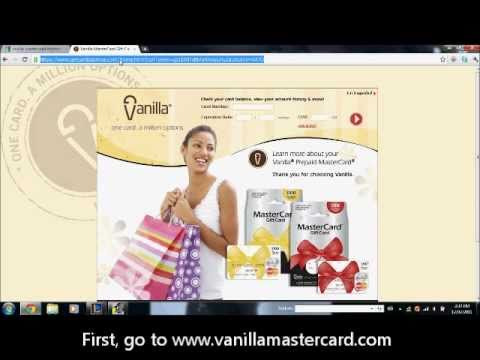 How to purchase online stuff with a Vanilla MasterCard Prepaid card.