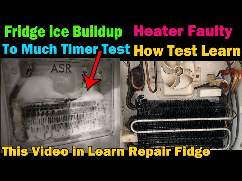 refrigerator evaporator coil freezing up defective defrost timer heater fault how test learn repair