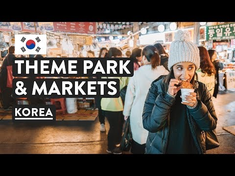 SURPRISES IN SOUTH KOREA 🇰🇷  Lotte World & Gwangjang Market   Seoul Travel Vlog