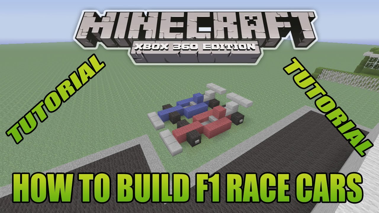 Minecraft Xbox Edition Tutorial How To Build F1 Race Cars