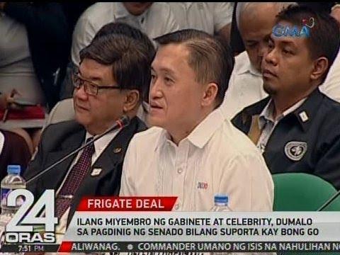 24 Oras: Ilang miyembro ng Gabinete at celebrity, nagpakita ng suporta kay Bong Go