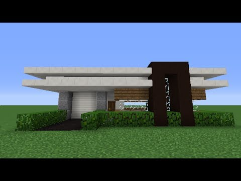 Minecraft How to Build a Small Modern House Tutorial 1 YouTube