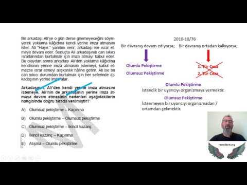 Download ÖP030 - PS03 - Skinner Edimsel Koşullama Pekiştirme Soruları (2010)