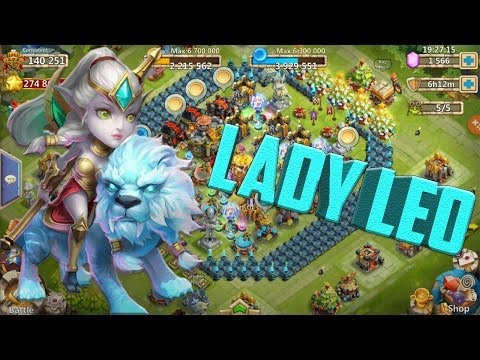 Castle Clash: Lady Leo Gameplay | Awesome Hero!