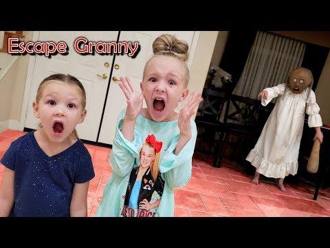 Escape the Babysitter Granny in Real Life Escape Room!