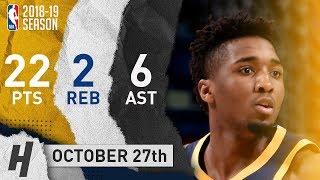 Donovan Mitchell Full Highlights Jazz vs Pelicans 2018.10.27 - 22 Pts, 6 Ast, 2 Rebounds!