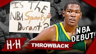 Kevin Durant First NBA Game, Full Highlights vs Nuggets (2007.10.31) - CRAZY Debut!