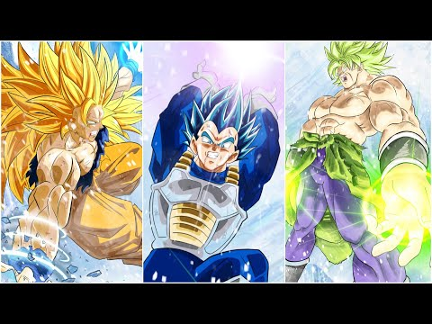 |Digital Drawing| GOKU - VEGETA VS BROLY - DRAGON BALL SUPER: BROLY - MOVIE