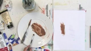 How to Mix the Color Raw Sienna for Acrylic Painting : Painting Tips