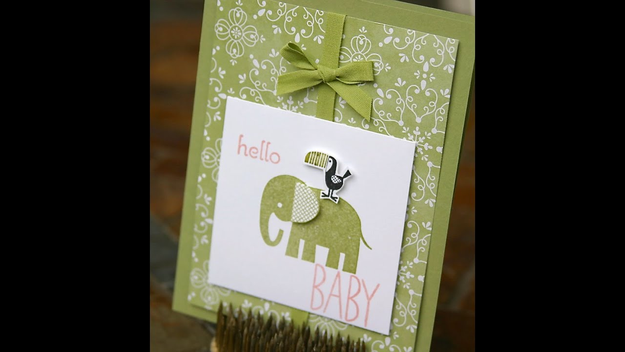 Stampin\' Up New Baby Card using Zoo Babies - YouTube