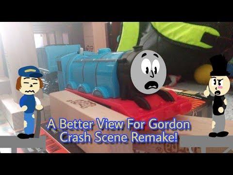 Thomas & Friends | A Better View For Gordon Crash Scene Remake! (Trackmaster, TOMY, Plarail)