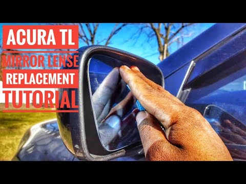 HOW TO REPLACE ACURA HONDA CAR MIRROR LENSE TUTORIAL