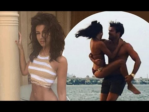 8034b9ce77 Toned Michelle Keegan stunning bikini body before leaping into husband Mark  Wright s arms on romanti - YouTube