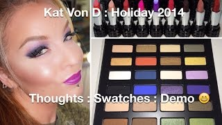 Kat Von D : Star Studded Eyeshadow book : Studded Kiss Lipstick Set Holiday 2014 Thumbnail