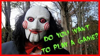 JIGSAW MOVIE BILLY THE PUPPET SKIT FUNNY HALLOWEEN SPOOF