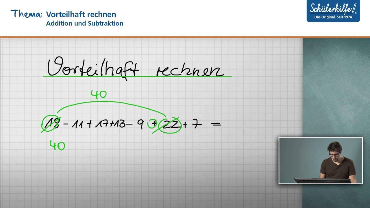Vorteilhaft rechnen // Addition & Subtraktion // Mathematik ...