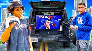 I CREATED A GAMING STUDIO IN MY CAR, SET UP 2K, & CHALLENGED EVERYONE