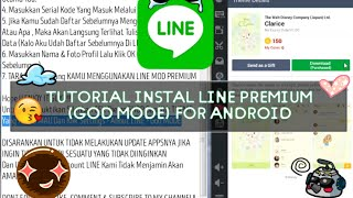 Tutorial Instal LINE MOD Premium (With GOD MODE) NO ROOT WORK 100%