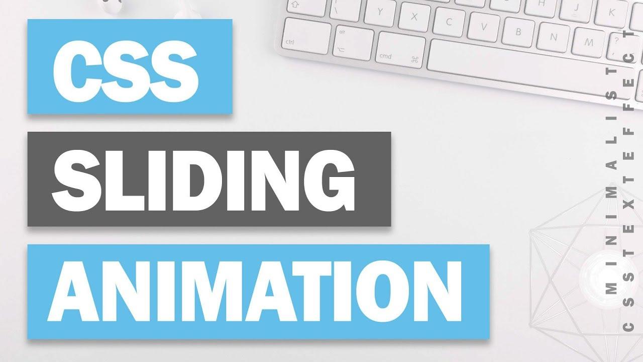 Minimalist CSS Text Sliding Animation Tutorial