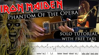 Iron Maiden - Phantom Of The Opera Dennis Stratton's solo lesson (with tabs and backing tracks)