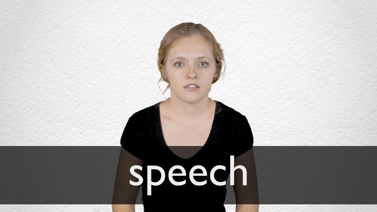 Speech Definition und Bedeutung  Collins Wörterbuch