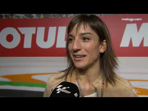 Sandra Sánchez visita el Paddock de Valencia