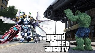 THE INCREDIBLE HULK VS GUNDAM WING - GTA IV