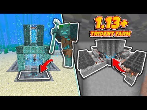 Minecraft: *BEST* 1 13+ Trident Farm (No Portals, Magma