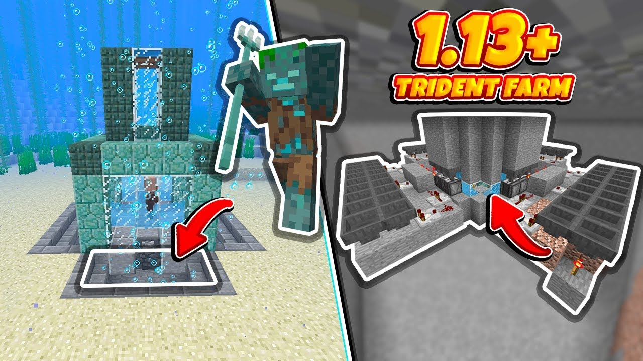 Minecraft: *BEST* 1 13+ Trident Farm (No Portals, Magma Design) - Tutorial