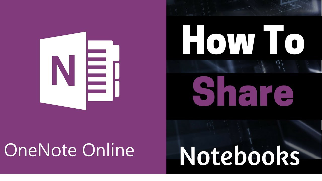microsoft onenote online tutorial | how to share a onenote notebook