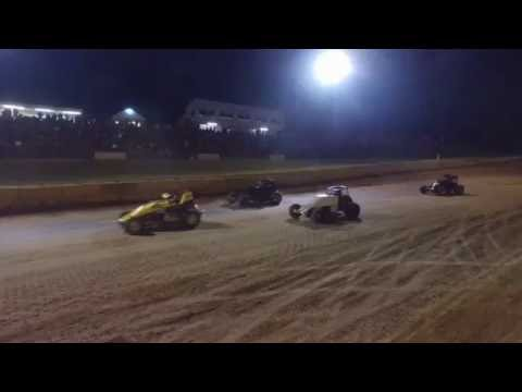 9/3/16 Lincoln Park Speedway Sprint Car A Main Drone Footage 2