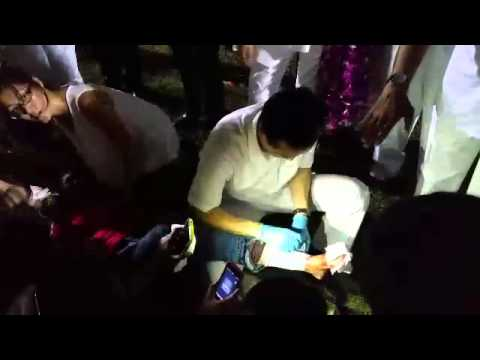 PAP's Dr Koh Poh Koon attends to injured supporter - part 2