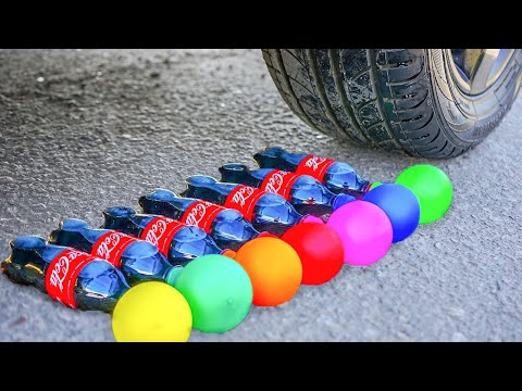 EXPERIMENT: CAR VS COCA COLA WITH BALLOONS - CRUSHING CRUNCHY & SOFT THINGS BY CAR!