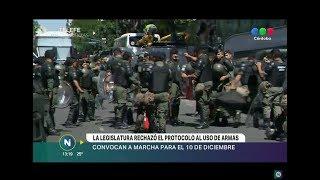 LA LEGISLATURA APROBÓ UN PROYECTO QUE RECHAZA EL PROTOCOLO DE USO DE ARMAS DEL MINISTERIO DE SEGURID
