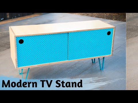 Modern Tv Stand - How to make a Media Console