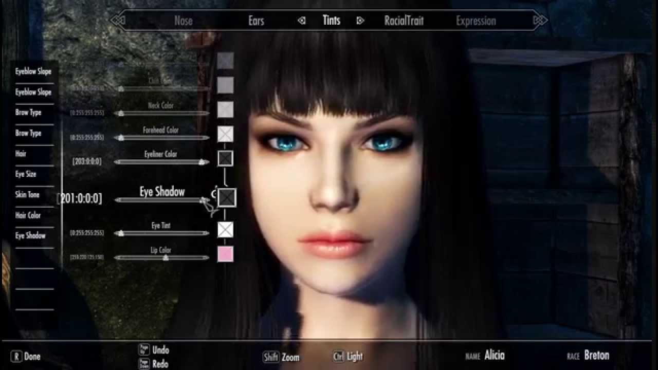 TUT] How to create Cute Character on Skyrim - Tutorial