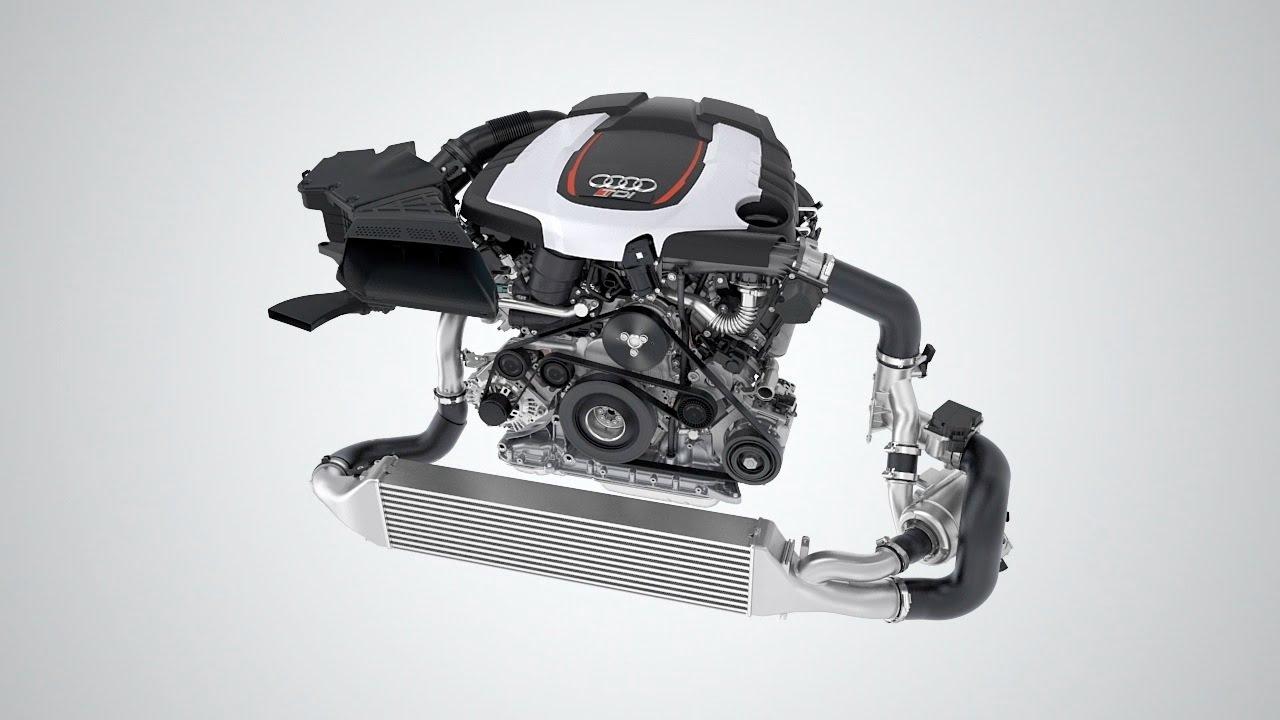Audi V6 Tdi Biturbo 320 Hp Engine Youtube