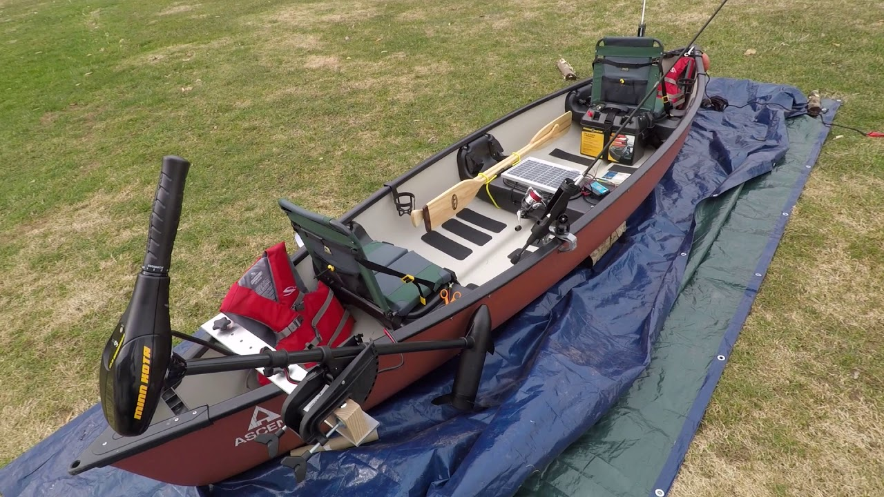 Electric Fishing Canoe Setup Youtube