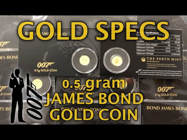 GOLD SPECS- Half gram 007 James Bond Gold Coin in Card 2020