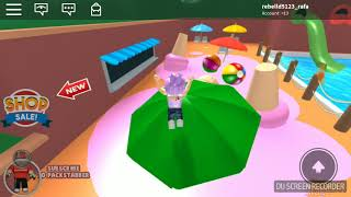 Playing roblox with you in our first video (Escape the water park Obby)
