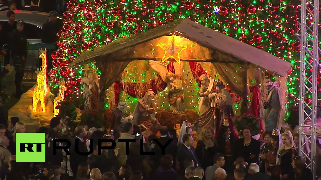 State of Palestine: Thousands celebrate Christmas Eve in Bethlehem ...