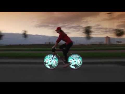 Kino-mo bike wheel display