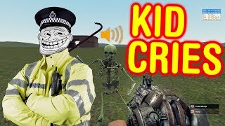 KID CAUGHT HACKING AND CRIES *POLICE CALLED* (Funny Gmod Trolling)