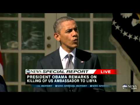 US Ambassador Death in Libya: President Obama Speech on Christopher Stevens Death in Benghazi