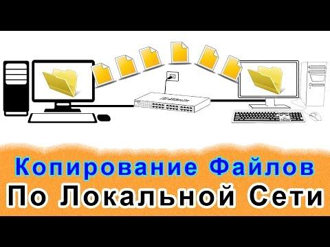 Копирование  Файлов с Компьютера На Компьютер По Локальной Сети