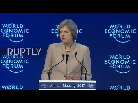 LIVE from WEF 2017: Special address by Theresa May
