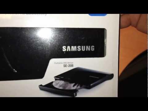 Samsung SE208AB External DVD Drive Unboxing