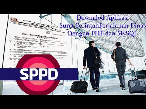 Downalod Surat Perjalanan Dinas dengan PHP dan MySQL
