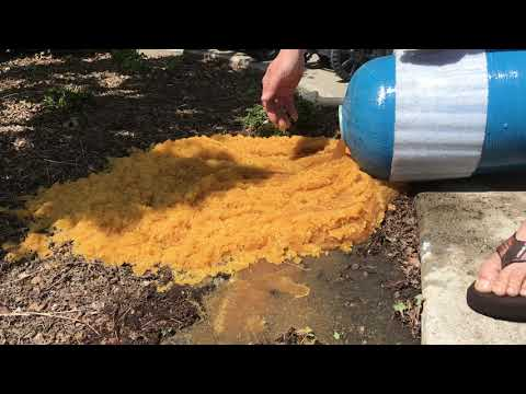 Emptying old water softener resin