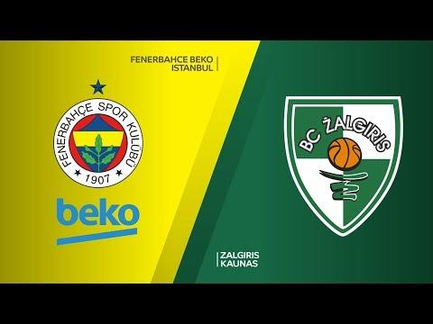 Fenerbahce Beko Istanbul -Zalgiris Kaunas Highlights | Turkish Airlines EuroLeag